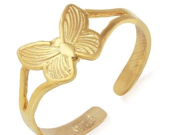 ON SALE Butterfly Adjustable Toe Ring in Sterling Silver