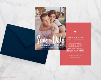Funny Quote Save the Date - Wedding