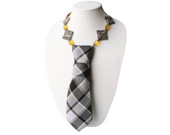 IVY necktie necklace plaid tie candee ivy league ladies necktie corbata collar womens necktie statement necklace preppy trending