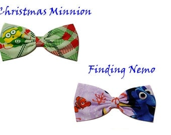 Disney Inspired Hair Bow- Christmas Minions Hair Bow-Finding Nemo- For Girls, For Teens, For Women