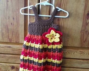 Crochet little girl's dress