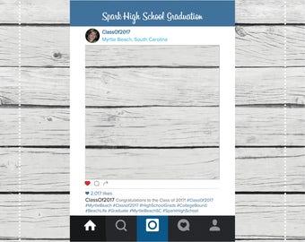 Instagram Photo Prop {PRINT & SHIP} Baby Shower, Graduation, Bachelorette Photo Prop.