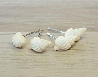 Shell Bobby Pin Seashell Bobby Pins Mermaid Hair Shell Hair Accessories Beach Wedding Hair Pins Seashell Headpiece Shell Barrette Bridesmaid