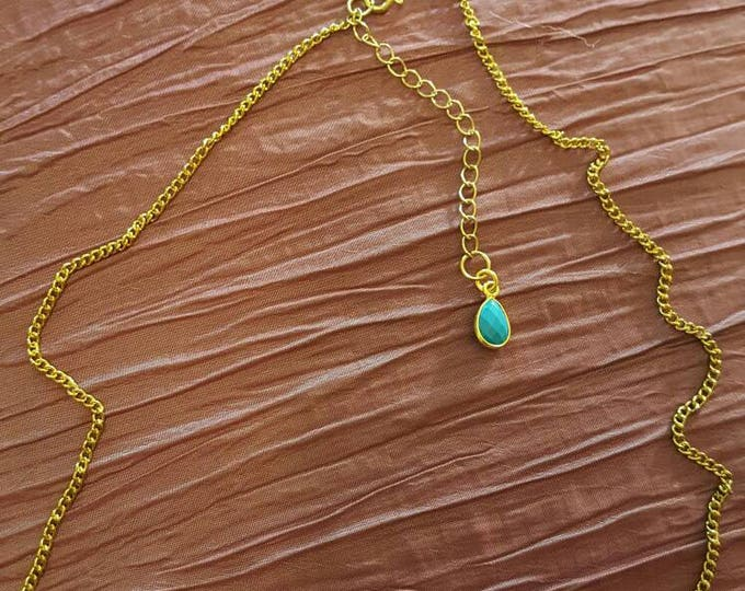 "Aries Zodiac Gold Plated Necklace 16"" or 18"""