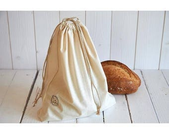 Cotton bread bag organic zero waste