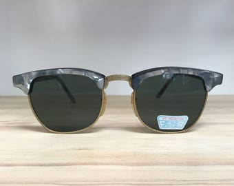 Blue or pink marble clubmaster vintage sunglasses