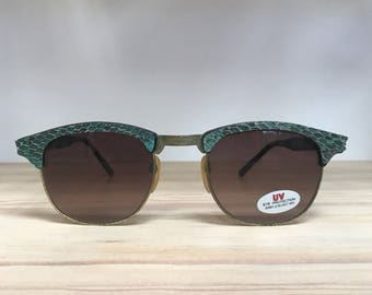 Turquoise or pink snakeskin clubmaster vintage sunglasses