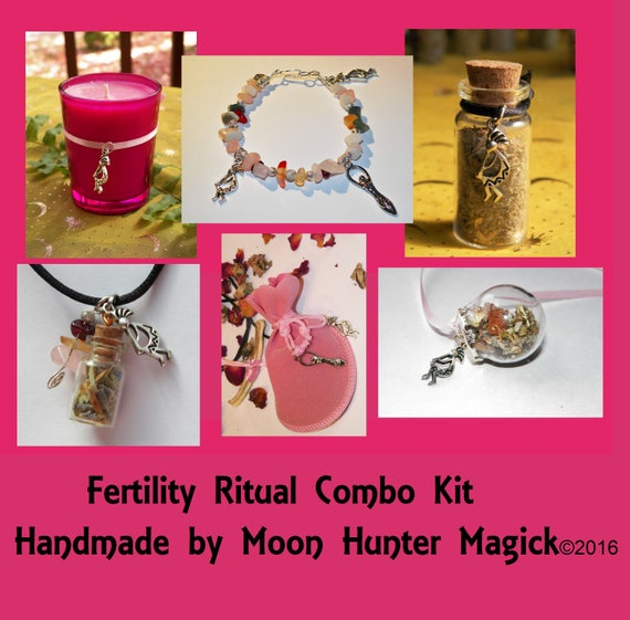 Fertility Ritual Combo Kit Conception Pregnancy Ritual Altar Kit