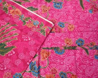 100% cotton Indonesian batik sarong/pareo/fabric. 2 metres in length. Batik Aspara Begum
