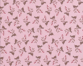 Cotton Tail Cottage - Bunny Fabric - Pink Fabric - Easter Fabric - Bunny Hill Designs
