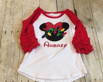 Christmas shirt/ disney christmas shirt/ minnie chirstmas shirt