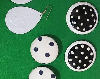 retro polkadot earrings