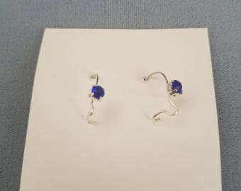 Dangle Earrings w/ Lapis Stone