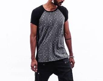 Geometric Men's T-shirt, Indie t-shirt, Festival wear, Gift for him, Burning man