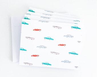 Bon Voyage Road Trip - Blank Note Card Set
