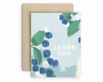Blueberries Thank You Card