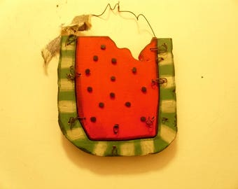 Primitive watermelon slice