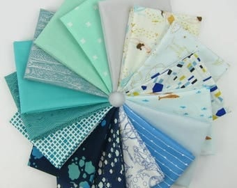 Design Star Finalist Wandlerlust Bundle curated by Nisha, @nishydoodle - 16 Fat Quarters - 4 Yards Total