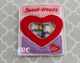 Sweet Treats Candy Bag, Embroidery Candy Bag, Candy Bag, ITH, Digital File, Embroidery Design