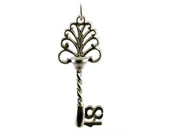 Sterling Silver 18th Birthday Key Charm For Bracelets