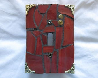 Single toggle mosaic switch plate cover