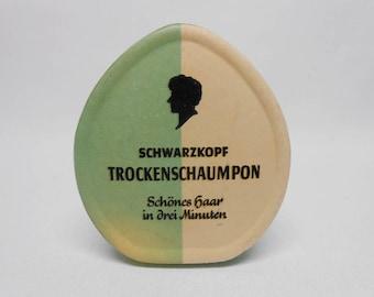 Schwarzkopf Dry Shampoo Trockenschaumpon German 1930's Dry Shampoo Vintage
