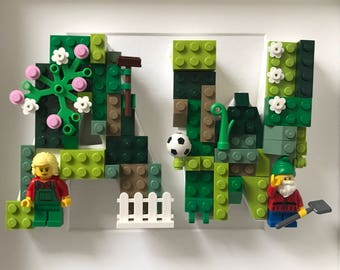 house warming gift, gardening, football, Anniversary, wedding, thank you, gnomes, Lego present picture frame bedroom