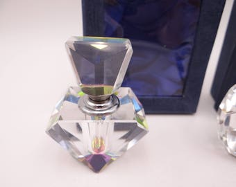 Stunning Vintage Prism Diamond Cut Glass Atomizer / Perfume Bottle in Box - 2 Different Styles Available - Gift for Her