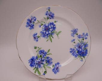 Beautiful Hammersley English Bone China Blue Kentish Cornflower Salad Plate