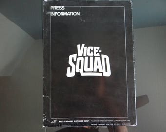 """Original Embassy Pictures Movie Press Information Kit 1982 """"Vice Squad"""" - Season Hubley,  Gary Swanson,  Wings Hauser"""