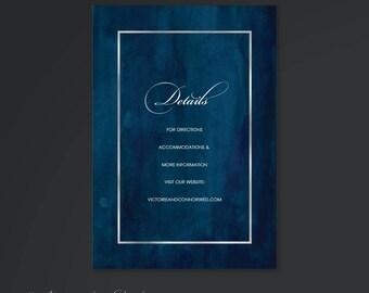 Watercolor Wedding Invitation Info Card | Wedding Website Card | Wedding Direction Card | Painted Modern Wedding Watercolor Invitation 18001