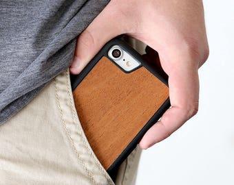 Wood iPhone 7 Case, Cherry Wood iPhone 7 Case, iPhone 7 Wooden Case - SHK-C-I7