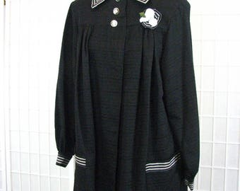 1950s Black STORE CLERK  Smock  ......  RARE ....... Fabulous Condition..... size  Medium