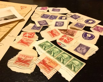 Lot of 1950s USPS Cancelled Stamps - Free USA Shipping!