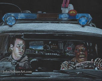 Ray & Winston Ghostbusters Drawing Print