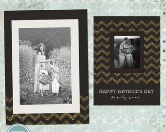 ON SALE NOW Mother's Day Photo Card-Photoshop Template 2015 - vol.6- Instant Download