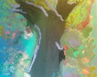 "Art Print ""spirit tree"" 4x6 print"