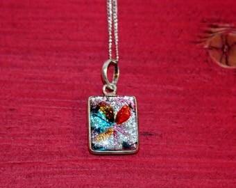 Glass Glitter Pendant