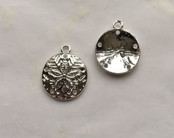Sand Dollar Charms Silver Plated
