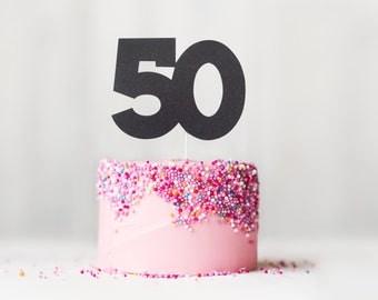 50th Cake Topper, 50th Milestone Birthday Cake Topper, 50th Anniversary Cake Topper, Fiftieth Cake Topper, 50 Topper, Cake Topper, Topper