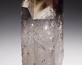 Brandberg Lustrous Amethyst Smoky Phantom Quartz Crystal 21.8 grams, Goboboseb Namibia
