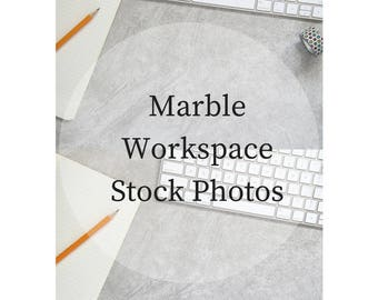 Stock Photography - Social Media Flat Lay Photo - Marble Office Photo - Writer Engagement Photo - Workspace - Instant Download - 300 DPI