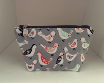Bird Zip Pouch, Assorted Birds, Birds, Zipper Pouch, Zip Pouch,Planner, Planner Pouch, Planner Supplies, Pen Pouch, Cosmetic, Bag