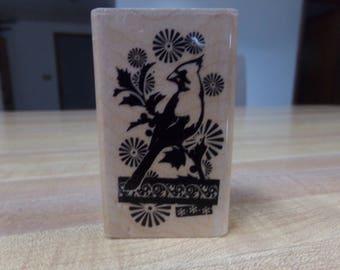Inkadinkado Cardinal Bird Rubber Stamp