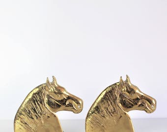 Vintage Small Horse Head Bookends