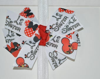 Little Sister Minnie Mouse Bow