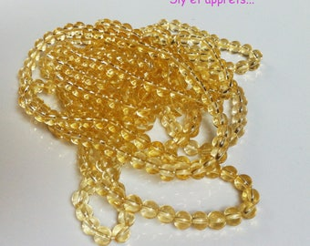 1 strand of yellow beads 4mm (approx 44 pieces)