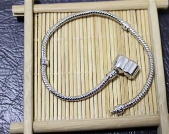 chain silver 19 cm color Pandora style bracelet