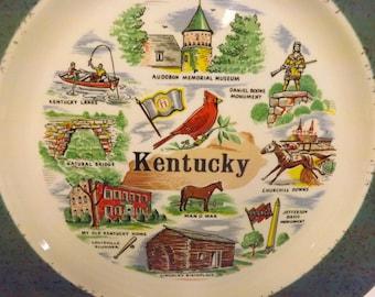 Kentucky Souvenir Plate Vintage Kentucky Plate