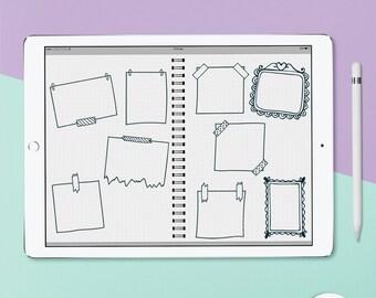 Digital Doodle Frames for Digital Planning including GoodNotes